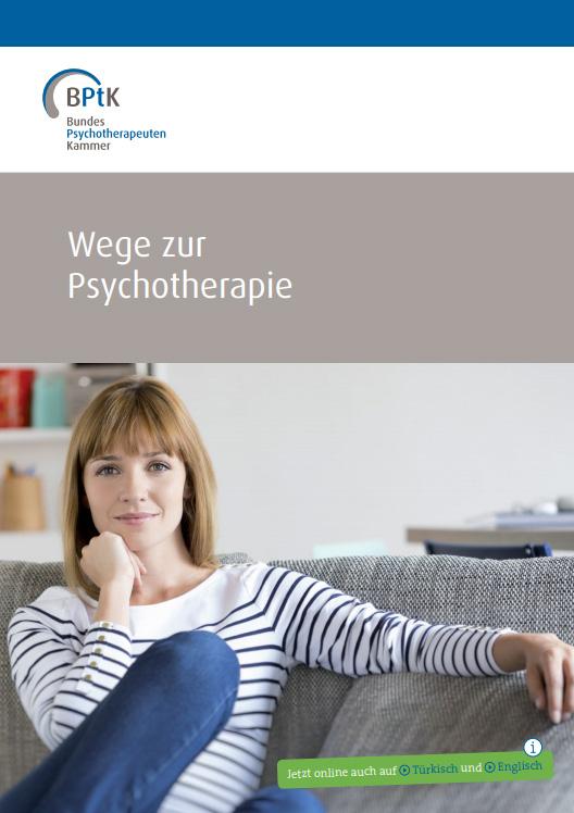 """Titel der Broschüre """"Wege zur Psyhotherapie"""""""